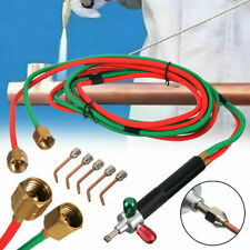 Butane Acetylene Welder Oxygen Gas Welding Torch Gun Cutting Kit With 5 Nozzles Us