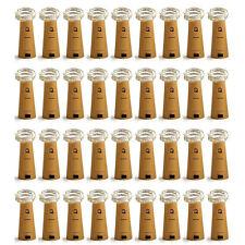 20 pcs Warm White 1m 20Leds Cork Shaped String Light Starry Light Bottle Lamp