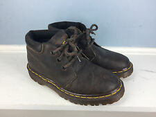 Original Doc dr Martens Youth 4 Brown leather ankle boot excellent England *
