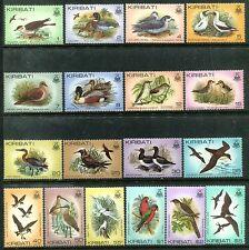 Kiribati 384-399 MNH Birds Pomarine jaegers, Mallards, Collared petrels,  x16507