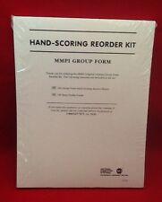 NEW HAND-SCORING REORDER KIT MMPI GROUP FORM REF 27330