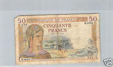 FRANCE 50 FRANCS CERES 31.3.1938 M.8083 N° 202061232