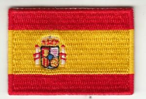 50 MM 35 MM Spain Flag Patch, Iron-On, Patch