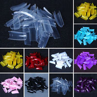 500Pcs Natural False Fake Acrylic UV Gel Full French Nail Art Tips Tool 28 Color