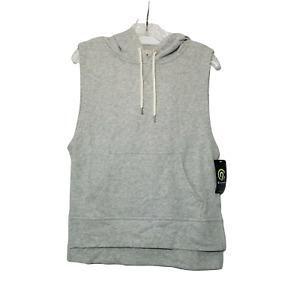 Champion NWT Hooded Fleece Shirt ~ Sz S ~ Sleeveless ~ Gray ~ Breathable Fabric