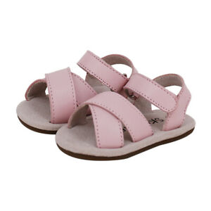 NEW SKEANIE Baby & Toddler Leather Cross Sandals Pink. RRP $59.95