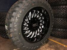 "20x10 -25 Cali 9108 Switchback Wheels 33"" MT Tires Package 6x135 Ford F150 6 Lug"