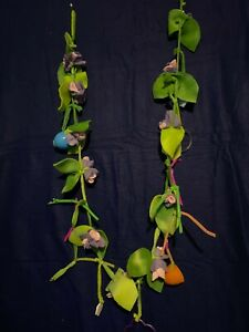no sew Sugar Glider Toy flower  exercise fleece Fun mice beds green leaves ring