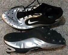 Nike Zoom Rival S Iii silver black Track Field shoes spike cleats mens size 12