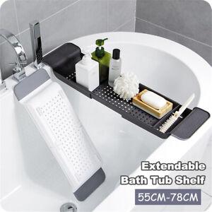 Extendable Bathtub Caddy Bath Tub Shelf Rack Tray Bathroom Holder Organiser  S5