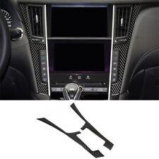 Fit For Infiniti Q50 Q60 2014-19 Carbon Fiber Interior Console Panel Frame Trim (Fits: Infiniti)