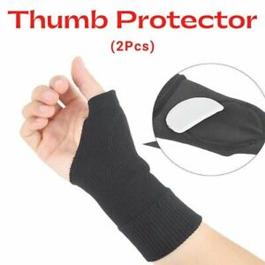 Gel Thumb Protector Support Sleeve Arthritis Gloves RSI Joint Pain Relief