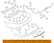 Lincoln FORD OEM 13-15 MKS-Bumper Trim-Molding DA5Z17C830A