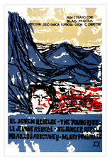 Cuban decor Graphic Design movie Poster for Cuba film.The Young REBEL.Art