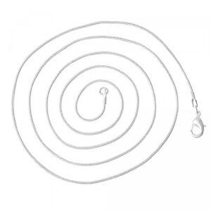 Schlangenkette fein 1,2mm x 41cm silber Halskette mit Karabiner Kette schlicht