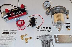 Facet Silver Top Fuel Pump & Malpassi Filter King Regulator Kit (up to 200bhp)