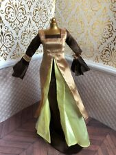 Tiana Princess Frog Brown Medieval Princess Gown Disney Store Classic Doll