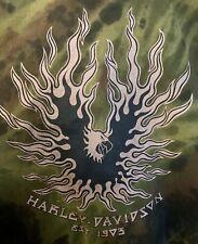 Vintage 1991 Harley Davidson Marble Tie Dye T-shirt (size Large) Woodstock, Ny