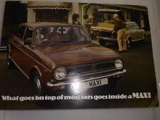AUSTIN MAXI 1500,1750,1750 HL AND 19750HLS SALES BROCHURE JANUARY 1979
