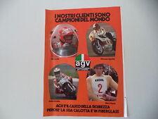 advertising Pubblicità 1976 CASCO AGV e NIKI LAUDA/GIACOMO AGOSTINI/HARRY EVERTS