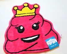 Justice Emoji Faces Pink Poop Swirl with Crown Bath Rug NEW