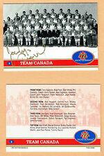 1972 Team Canada Jocelyn Guevremont Autographed Team Card