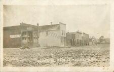 Clutier, Iowa-East Side Main Street Scene-Stores c1916 RPPC Real Photo Postcard