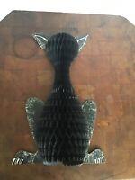 Vintage Beistle Halloween 14 Inch Honeycomb Cat