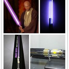 Master Replicas Star Wars MR Mace Windu Lightsabers Weapons Metal handle stock