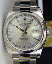 ROLEX - Mens 36mm Stainless DateJust Silver Index Dial - 116200 SANT BLANC