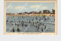 PPC POSTCARD CANADA MANITOBA WINNIPEG GRAND BEACH VIEW FROM WATER