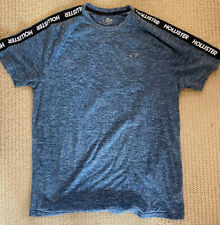 Mens Hollister T Shirt Blue/Grey Size Large USED