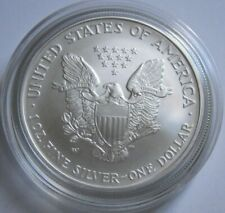 2008 Rev of '07 BURNISHED AMERICAN SILVER EAGLE COIN ~with U.S. Mint Box & COA~