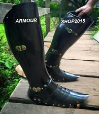 Armour Halloween Black Leg Guard Medieval Unique Replica Costume