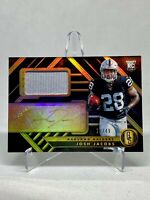 2019 Panini Gold Standard JOSH JACOBS RPA 28/49 1/1 Jersey # Auto Rookie RC #208
