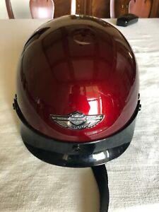Harley Davidson Half Helmet XS, red near perfect