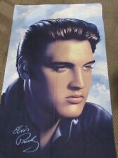 36x58 Elvis Presley Blue Fleece Throw Gift Blanket Photo Portrait Rock Music G1