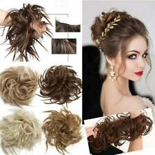 X-Large Scrunchie Messy Bun Hair Piece Tousled Updo Wrap on Ponytail Extensions