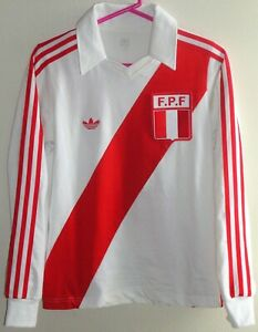 VTG ADIDAS PERU NENE CUBILLAS #10 SOCCER JERSEY FOOTBALL SHIRT ARGENTINA WC 1978