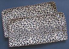 JANE WILNER Haute Couture Leopard Print/Braided Trim Euro Pillow Shams