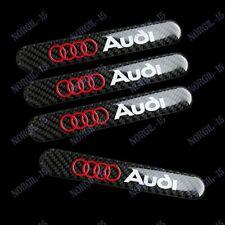 X4 Carbon Fiber Car Trunk Side Fenders Door Badge Scratch Guard Sticker For Audi
