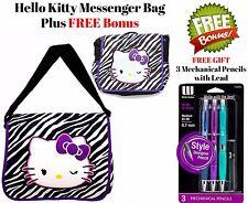 HELLO KITTY School Messenger Bag Handbag Backpack Book Bag + FREE Bonus NWT