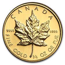 1988 Canada 1/4 oz Gold Maple Leaf BU - SKU #82827