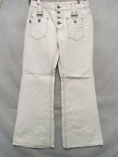 D7264 Levi's for Gals Big E Beige 70's Rare Flare High Grade Jeans Women 30x29