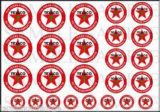 1/2 3/8 1/4 INCH TEXACO MINI 25 DECAL SHEET HO SCALE TRUCK DIORAMA MODEL