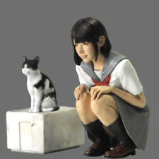 1:20 resin figures model kit miniature Beautiful girls and cats R137 Resin Kit