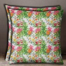 Floral Multicouleur Popeline De Coton Square Pillow Canapé Coussin