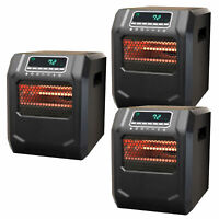 Lifesmart 4-Element Quartz Infrared Portable Electric Space Heater (3 Pack)