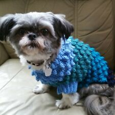 Crochet Chien Pull Medium Hand Made To Measure Sweater Puppy Clothes