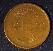 1929-A--GERMANY--WEIMAR REP--1 REICHPFENNIG--BETTER GRADE